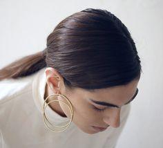 Large double hoop stud earrings https://www.etsy.com/uk/listing/483710073/reflection-earrings