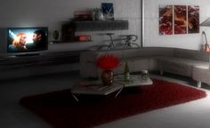 interior living room 3d render