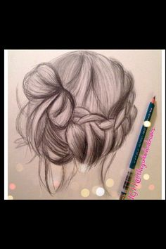 Pretty hair sketch