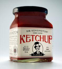 Sir Kensington's Gourmet Scooping Ketchup : Lovely Package® . Curating the very best packaging design. Jar Packaging, Vintage Packaging, Food Packaging Design, Vintage Labels, Packaging Design Inspiration, Branding Ideas, Craft Packaging, Food Branding, Beverage Packaging