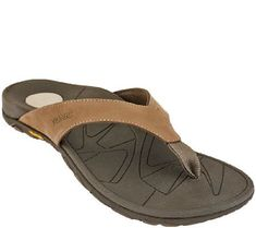 9475d9bedae2 Vionic w  Orthaheel Men s Orthotic Leather Thong Sandals - Bryce