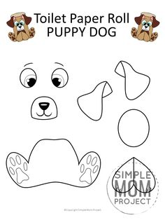 Looking for a fun craft idea to do with those cardboard tubes we call toilet paper rolls? Click now to print a FREE dog template to make an adorable toilet paper roll puppy dog! He is easy and perfect to do in the classroom with your kindergarten kids or at home as a weekend diy project with your toddlers! #toiletpaperrollcrafts #toiletpapercrafts #dog #dogcrafts #dogtemplate #printablecrafts #SimpleMomProject Puppy Crafts, Farm Animal Crafts, Toilet Roll Craft, Toilet Paper Roll Crafts, Dog Template, Dog Toilet, Kids Toilet, How To Make A Paper Bag, Animal Templates
