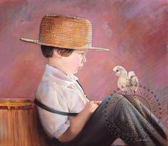 Amish children seem so wise and peaceful    Nancy Noel