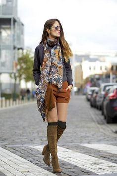 From Brussels, with love ♥: OOTD: Zara boots and Forever 21 shorts