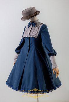 IchigoMikou -Sherlock- Vintage Lolita Wind Jacket Coat