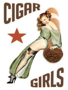 Cigar Girls Art Photo Print Pinup Poster Havana Cuba Pin Up Girl Cuban Cigar Cigars And Women, Women Smoking Cigars, Cigar Smoking, Pin Up Vintage, Vintage Metal Signs, Vintage Style, Pin Up Posters, Girl Posters, Cigars And Whiskey