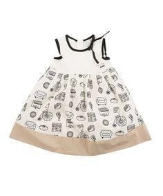 Lourdes Spring into Summer   Black, White & Beige Voyage Dress - Infant & Girls