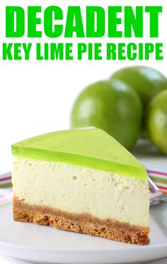 Carla Hall's key lime pie recipe is as decadent as you could ever want it.