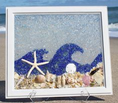 Sea Glass Art Window Best Modern Beach Glass by TerrysBeachArt