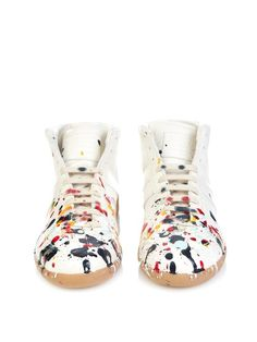 Maison Margiela Replica paint-splatter high-top trainers