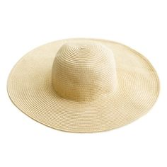Absolutely everything we want in a summer hat: Made of resilient paper straw, it flattens and folds for easy packing and features an extra-wide brim to keep you cool and protected. It's the one thing we're never without on weekends away and beach getaways.Paper StrawHead Circumference: Approx.56-58cmBrim Width: Approx.15cmHeight: Approx.10cm