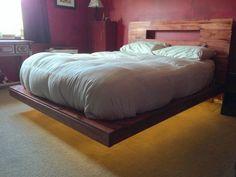 DIY floating platform bed                                                                                                                                                      More
