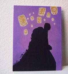Disney Tangled princess Rapunzel small canvas acrylic painting 8x6 via Etsy