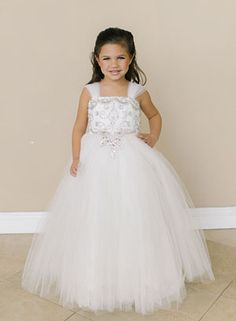 b889d9b74c4 Designer Amalee Girls Dress Style FG127 - Tulle and Beaded Ball Gown in  Choice of Color