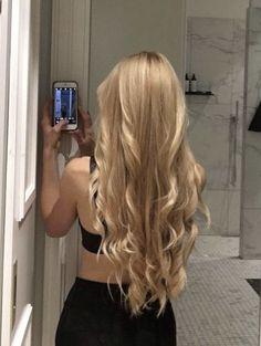 Pretty Hairstyles, Straight Hairstyles, Brunette Hairstyles, Easy Hairstyle, Hair Inspo, Hair Inspiration, Blonde Hair Looks, Pinterest Hair, Aesthetic Hair
