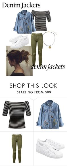 """""""Denim Design"""" by mac24 ❤ liked on Polyvore featuring Current/Elliott, adidas Originals and denimjackets"""