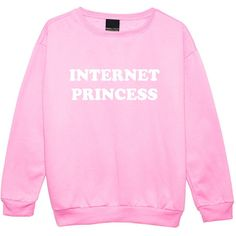 INTERNET PRINCESS SWEATER (530 UAH) ❤ liked on Polyvore featuring tops, sweaters, shirts, hipster sweaters, pink jumper, pink shirts, doll sweater and baby doll sweater