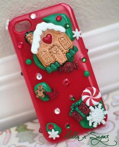 Holiday Delight Christmas Decoden Iphone 4/4S Case  by HELLOxSUGAR on Etsy, $25.00