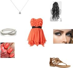 """""""Peachish..."""" by mindiblue2 ❤ liked on Polyvore"""