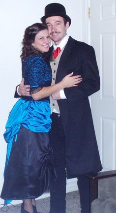 Old West Saloon Couple Costume