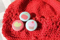 Cupcakes and Cherries   Cute Crochet Little Kids by willowbeshop, $15.00