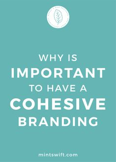 Find out the why is important to have a cohesive branding. See the 4 reasons to have a coherent brand design for your small business Branding Your Business, Creative Business, Business Tips, Online Business, Business Entrepreneur, Business Checks, Brand Identity, Visual Identity, Creating A Brand