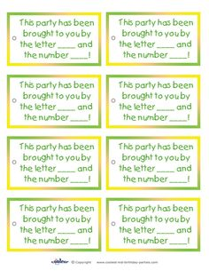 Printable Sesame Street Favor Tags - Coolest Free Printables