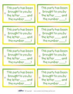 Printable Sesame Street Favor Tags - Coolest Free Printables