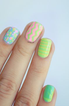 Cute mix & match nails using Lime Crime polishes!