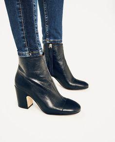 Image 6 de BOTTINES À TALON EN CUIR de Zara Bottines Femme Talons, Chaussures  Femme a53ca3fbc958
