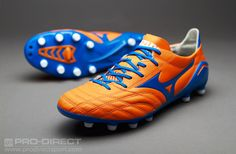 Mizuno Football Boots - Mizuno Morelia Neo MD - Firm Ground - Soccer Cleats - Autumn Glory-White-Diva Blue