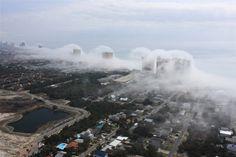 Whaouu - Un nuage tsunamique sur les plages de Panama !