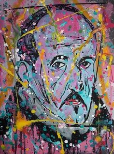 LUIS DE GONGORA Pop Abstracto Portrait Open Edition Signed Print Icon SPAIN FDLM #PopArt