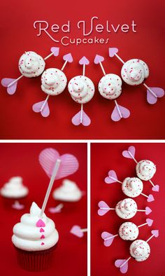 Cupid's arrow cupcakes in Decoration stuff for cupcakes and muffins