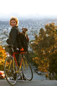 Rider Portrait: Lindsey and Bucket | Shared from http://hikebike.net