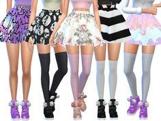 Sims 4 Cc Skin, Sims Cc, Cute Skater Skirts, Pastel Skirt, Sims 4 Cc Kids Clothing, Sims 4 Cc Shoes, Toddler Skirt, Sims4 Clothes, Sims 4 Cc Packs