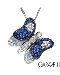 GARAVELLI Made In Italy Necklace Designed In 18K White Gold at Modnique.com