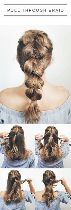 hairstyles diy tutorials - hairstyles diy & hairstyles diy easy & hairstyles diy easy step by step & hairstyles diy tutorials & hairstyles diy videos & hairstyles diy easy lazy girl & hairstyles diy braided & hairstyles diy easy simple Prom Hairstyles For Long Hair, Daily Hairstyles, Braids For Long Hair, Trendy Hairstyles, Wedding Hairstyles, Quick Easy Hairstyles, Long Hair Easy Updo, Simple Hairstyles For Medium Hair, Creative Hairstyles