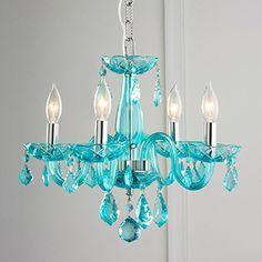 Eliosha 6-light Multi-colored 46-inch Acrylic Chandelier | Overstock.com Shopping - The Best Deals on Chandeliers & Pendants