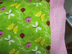 NEW Girl Bugs MINI Pillowcase kids/travel pillowcase | MadeAtNanas - Housewares on ArtFire