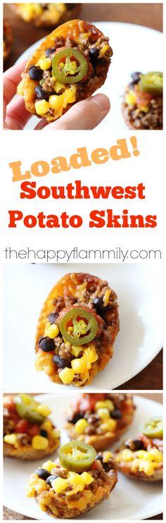 de terre à la Sud-Ouest (en anglais) These southwest potato skins ...
