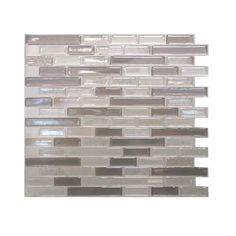 Smart Tiles, Muretto Beige 10.25 in. x 9.13 in. Mosaic Decorative Wall Tile in Light Brown, SM1055-1 at The Home Depot - Mobile