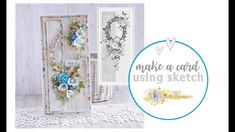 Make a Card Using Sketch / Kartka do mapki E Type, Card Sketches, Paper Flowers, Cardmaking, Craft Supplies, Make It Yourself, Floral, Cards, How To Make