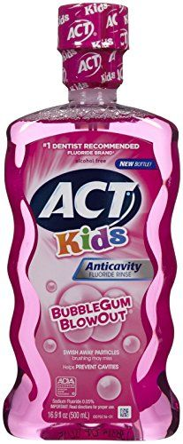 ACT Anti-Cavity Rinse, Bubblegum Blowout - oz Alcohol Free Bubblegum Blowout Stronger Teeth, Dental Supplies, Best Oral, Healthy Teeth, Mouthwash, Alcohol Free, Cavities, Bubble Gum, Health And Beauty