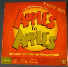 Apples to Apples Party Box > Card Family Board Game Night - Summertime fun #Mattel