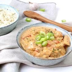 Kip tandoori uit de slowcooker Low Carb Slow Cooker, Healthy Slow Cooker, Crock Pot Slow Cooker, Healthy Crockpot Recipes, Slow Cooker Recipes, Cooking Recipes, Healthy Food, Slow Cooking, Weigt Watchers