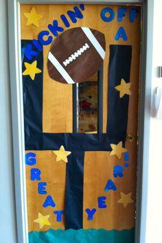 back to school! football door. :)