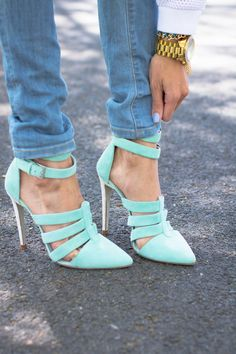 mint shoes high heel