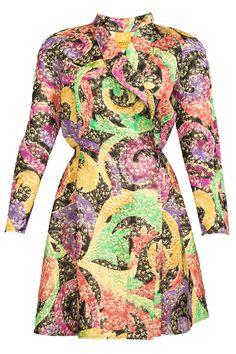 Vintage Christian Lacroix Colorful Jacquard Coat Dress   PinkClouds   Vintage Fashion