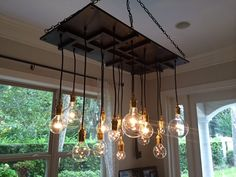 Arts and Crafts Mission Style Chandelier by IndustrialLightworks